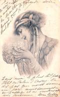 CPA Fantaisie - Illustration Vienne Wien Viennoise - Jolie Jeune Femme Portrait Profile - Women
