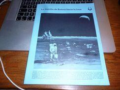Folder Technique Publicitaire Horlogerie Montre Bulova Bienne Histoire Apolo Expédition Sur La Lune - Bijoux & Horlogerie
