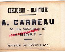79 -NIORT-RARE BUVARD A. CARREAU -HORLOGERIE BIJOUTERIE-57 RUE VICTOR HUGO-CHROMO ROBERT SENECAUT ROUBAIX -JEU DE L' OIE - Buvards, Protège-cahiers Illustrés