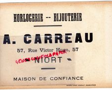 79 -NIORT-RARE BUVARD A. CARREAU -HORLOGERIE BIJOUTERIE-57 RUE VICTOR HUGO-CHROMO ROBERT SENECAUT ROUBAIX -JEU DE L' OIE - H