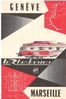 Fiche Horaire SNCF Train Rapide Le Rhodanien GENEVE à MARSEILLE - Europe