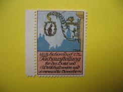 Vignette 1912 Schomdorf Fachausftellung Fur Das Hoterl Und Wirtfchaftswefen Und Vervande - Erinnophilie