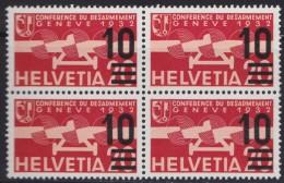 Suisse  .    Yvert    PA  21    Bloc De 4   .    **       .   Neuf   SANS  Charniere  .  /   .    MNH - Poste Aérienne
