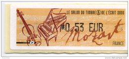 LISA 1/ LE SALON DU TIMBRE ET DE L'ECRIT (MOZART) 2006 - 2010-... Abgebildete Automatenmarke