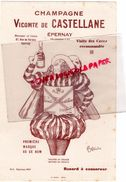 51- EPERNAY- BUVARD CHAMPAGNE VICOMTE DE CASTELLANE- ILLUSTRATEUR CAPPIELLO - Food
