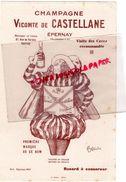 51- EPERNAY- BUVARD CHAMPAGNE VICOMTE DE CASTELLANE- ILLUSTRATEUR CAPPIELLO - Alimentaire