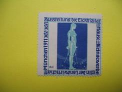Vignette Munchen 1911 Ausstellung  Die Elektrizifat  Im Mause  Im Kleingewerbe - Erinnophilie