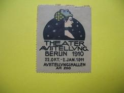 Vignette Theater  Ausstellung  Berlin 1910    22 Okt - 2 Jan 1911  Ausstellungshallen Am Zoo - Erinnophilie