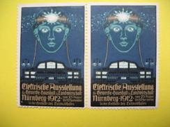 Vignette Clettrishe  Ausstellung Gemerbe Haushalt Landivirtschaft Murnberg 1912 - Erinnophilie