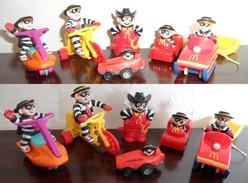 Lot Happy Meal Mac Donald's 6 Personnages Hamburglar - McDonald's