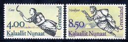 GREENLAND 1994 Ships' Figureheads I MNH / **.  Michel 252-53 - Greenland