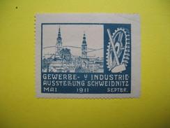 Vignette Gewerbe Y Industrie Ausstellung Schweidnitz Mai 1911 Septbr - Erinnophilie