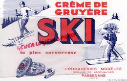 39- PASSENANS- JURA- BUVARD CREME DE GRUYERE SKI- FROMAGERIE-DOMAINE DE MONCHAUVIER -FROMAGE -LAITERIE LAIT - Food