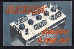"""1930 Env. Publicité """"Alcabloc """" Batterie,accumulateur Automobiles,camions....Usines à Romainville,Bordeaux,Angoulême - Francia"""
