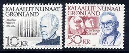 GREENLAND 1991 Personalities: Petersen And Lynge. MNH / **.  Michel 221-22 - Greenland