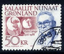 GREENLAND 1991 Personalities: Hans Lynge.50 Kr. Used.  Michel 222 - Used Stamps