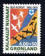 GREENLAND 1991 Blue Cross MNH / **.  Michel 220 - Greenland