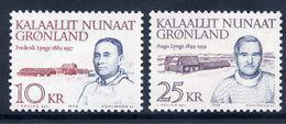 GREENLAND 1990 Personalities: Frederik And Augo Lynge MNH / **.  Michel 209-10 - Greenland