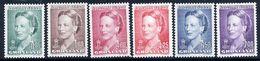 GREENLAND 1990-96 Queen Margarethe Definitive Set Of 6 MNH / **.  SG 210-15;  Michel 201-04, 244, 283 - Groenland