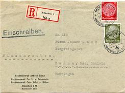 (Lo854) Einschr. Brief  DR St. München N. Tanna Bez. Schleiz - Germania