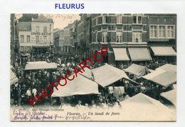 FLEURUS-Un Lundi De Foire-MARCHE-Commerce-Periode Guerre-14-18-1 WK-BELGIEN-BELGIQUE-Feldpost 1918- - Fleurus