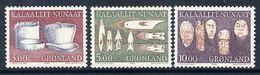 GREENLAND 1988 Historic Artefacts III MNH / **.   Michel 186-88 - Greenland