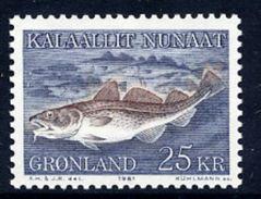 GREENLAND 1981 Atlantic Cod MNH / **.   Michel 129 - Greenland
