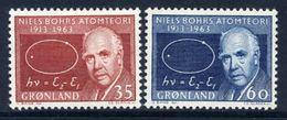 GREENLAND 1963 Bohr's Atomic Theory MNH / **.   Michel 62-63 - Greenland