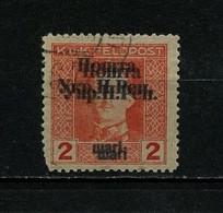 West Ukraine, 1919, Double Overprint, Used - Ukraine & West Ukraine
