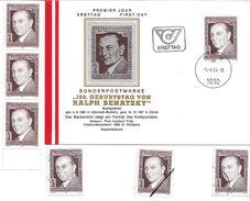 1505j: Österreich 1984, Komponist Ralph Benatzky, FDC Plus 5mal **/o, Plus Mustermarke - Musik