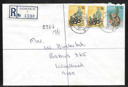 South West Africa - Registered Cover Gobabis To Windhoek 1978 - Briefmarken