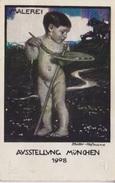 Entier 5 Pf Ausstellung München 1908. Enfant, Peintre, Pinceau, Palette De Couleur - Germany