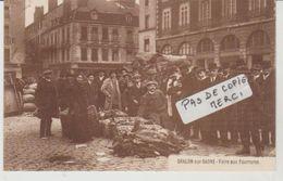 Saône Et Loire CHALON SUR SAÔNE Foire Aux Fourrures (Carte Postale Publicitaire Richard - Millet) - Chalon Sur Saone