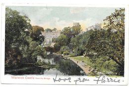Great Britain - Warwick Castle From The Bridge - Used 1904 - Warwick