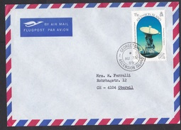 Ascension: Airmail Cover To Switzerland, 1989, 1 Stamp, Tracking NASA Apollo, Space, Rare Real Use! (traces Of Use) - Ascensión