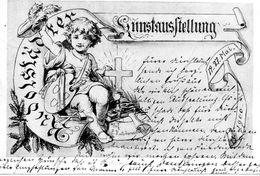 Thuringen, Rudolstadt, Ed Schreiner, Kunstaustellung 1900, Prof Hutschencute,  Carte Très Rare - Rudolstadt