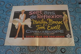 RARE,Affiche De Cinéma Ancienne, Très Bel état De Collection,Marilyn Monroe & Tom Euvell,7 Ans De Réflexion,Century Fox - Affiches