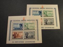 CROAZIA - 2 BF 1943 LEGIONE - NUOVI(+ SUL BORDO IN ALTO) - Croazia