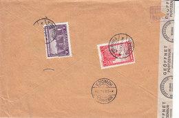 Serbie ,occupation Allemande ,2 Timbres Sur Lettre Recommandée De Kovacica ,1943 , 2 Scans - Occupation 1938-45