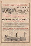 Manuel D'instructions Ateliers De Chaudronnerie De Fer G. Vernon Ingénieur E.C.P. Constructeur à Bornel (Oise) Gand 1913 - Planches & Plans Techniques