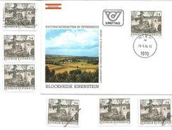 1505p: Österreich 1984, Blockheide Eibenstein Granitwackelsteine FDC, 6mal **/o, Mustermarke Und Schwarzdruck - Geologie