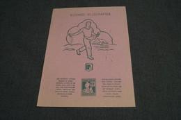 Ancien Buvard Avec Point Tintin,Hergé,Originale,21 Cm. Sur 15 Cm.,état De Collection - Objets Publicitaires