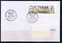ATM, LISA2, PLI, FDC, LP 0.85€, Centenaire De L'entrée En Guerre Des Usa, Gondrecourt Le Chateau. - 2010-... Geïllustreerde Frankeervignetten
