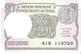 India - Pick 108b - 1 Rupee 2016 - Unc - India