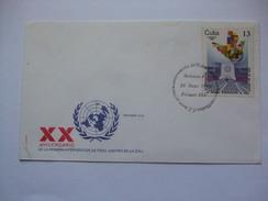 CUBA - 1980 FDC - XX Aniversario De La Primera Intervencion De Fidel Castro En La Onu - Cartas