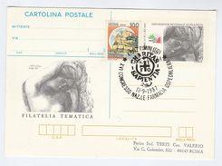 1987 RIMINI Charitas Sapientian HOSPITAL PHARMACY  EVENT Postal STATIONERY CARD Italy Cover Health Medicine Stamps - Pharmacy