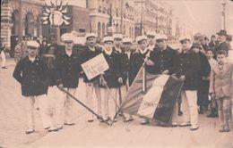 CARTE-PHOTO SOCIETE De GYMNASTIQUE LA DEODATIENNE (1930, Le Nom Des 10 Sociétaires Au Dos De La Carte) - Saint Die