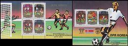 Soccer Football Korea 1980 Bl 78/9 1982 World Cup Spain MNH ** - 1982 – Espagne