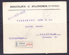 SC13-32  LETTER FROM ATHENS TO PRAHA. - Grecia