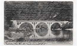 (RECTO / VERSO) PONT DE LAUSSAC EN 1904 - BEAU CACHET - CPA VOYAGEE - Autres Communes